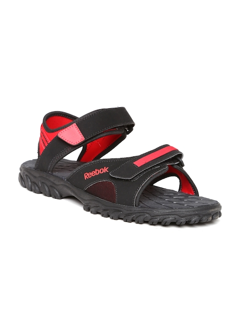Reebok Men Black & Red Adventure Chrome Sports Sandals