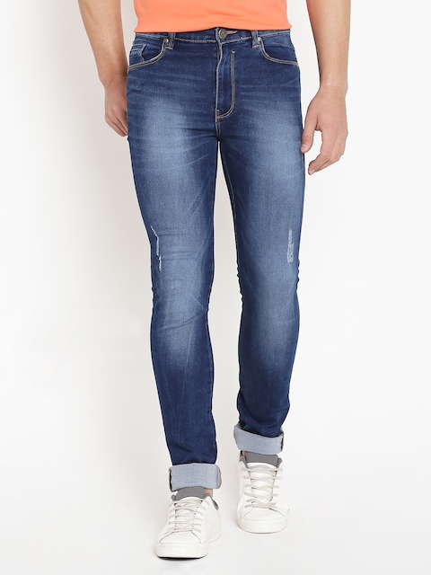 American Swan Blue Washed Slim Fit Stretchable Jeans