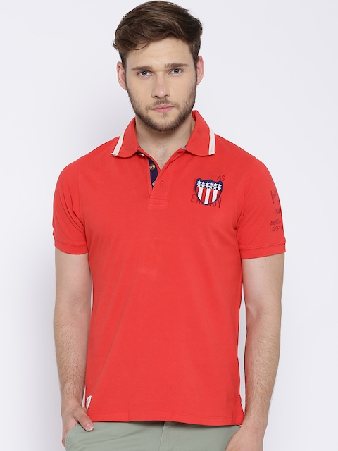 American Swan Coral Red Polo T-shirt