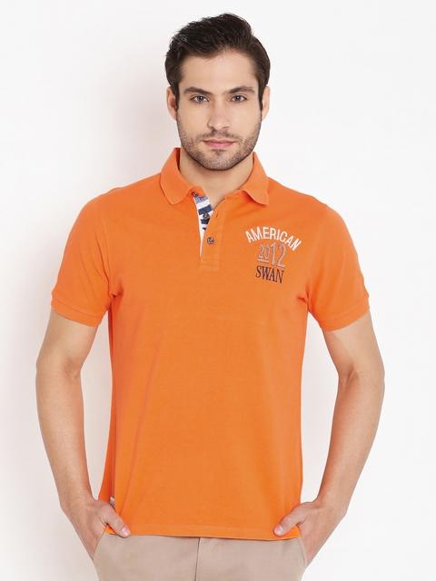 American Swan Orange Polo T-shirt