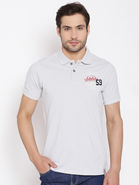 American Swan Light Grey Polo T-shirt
