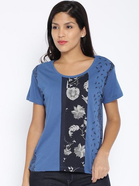Lee Blue Printed T-shirt