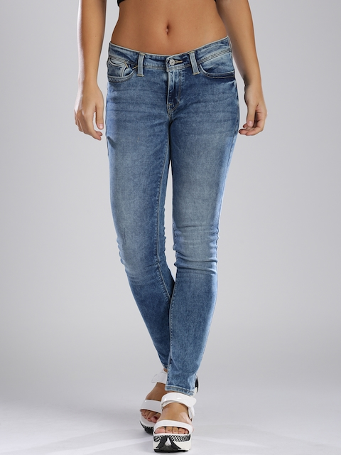 Levi's Blue Skinny Fit 711 Stretchable Jeans  available at myntra for Rs.2399