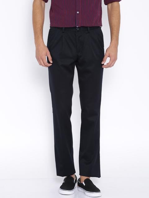 Indian Terrain Black Kansas Fit Chino Trousers