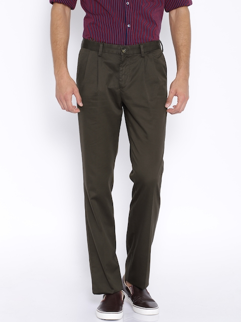 Indian Terrain Brown Kansas Fit Chino Trousers