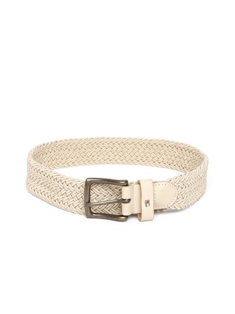 Tommy Hilfiger Men Beige Braided Belt