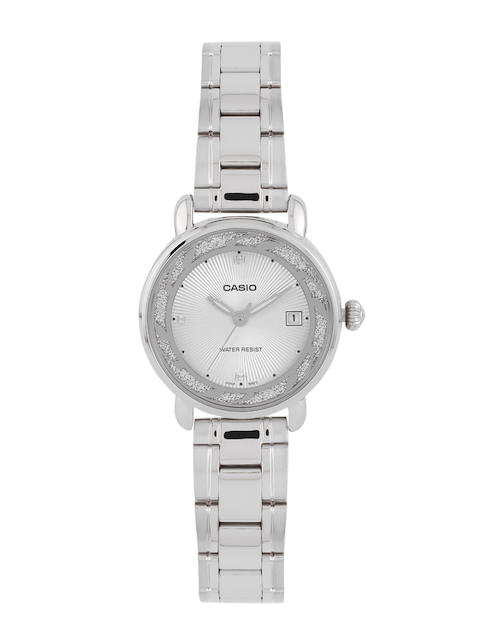 Casio Enticer LTP-E120D-7ADF (A1041) Analog White Dial Women's Watch (LTP-E120D-7ADF (A1041))