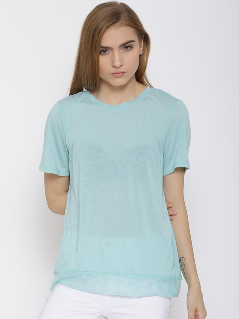 Vero Moda Powder Blue Lace Back Top