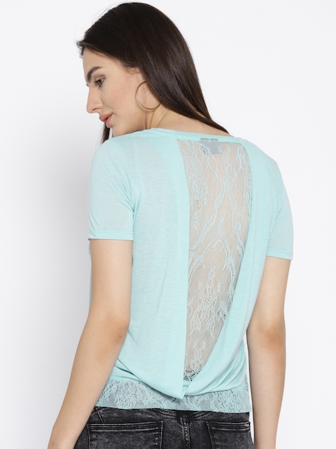 Vero Moda Blue Lace Back Top