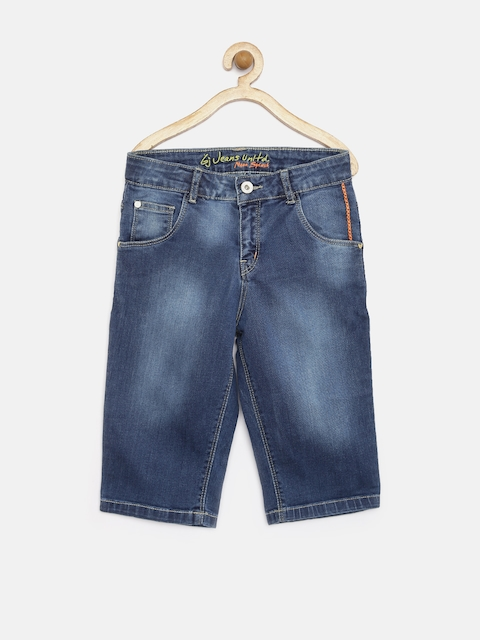 GJ Unltd Jeans by Gini & Jony Girls Blue 3/4th Denim Shorts