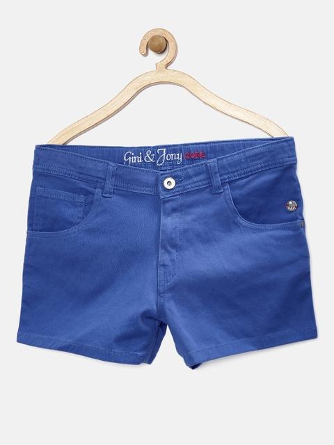 Gini & Jony Girls Blue Shorts
