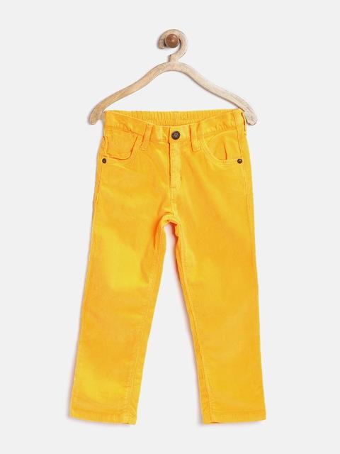 Gini & Jony Girls Yellow Corduroy Trousers
