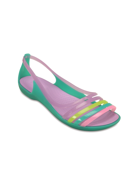 Crocs Women Purple & Green Flats