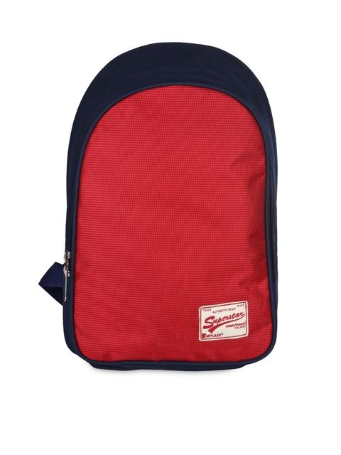 Bendly Unisex Blue & Red Backpack