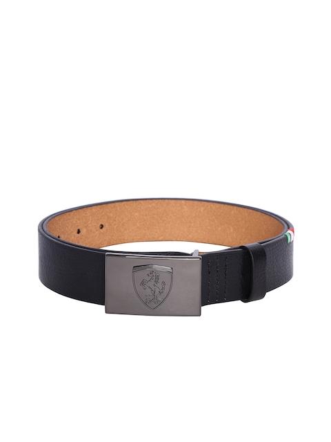 PUMA Men Brown Ferrari LS Leather Belt
