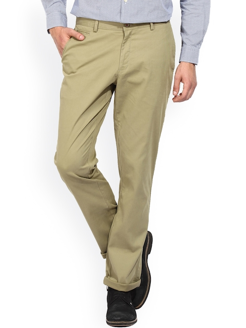 Blackberrys Olive Brown Chino Trousers