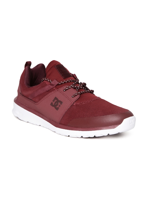 DC Men Maroon Perforated Casual Shoes