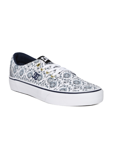 DC Women White Ethnic Print Sneakers