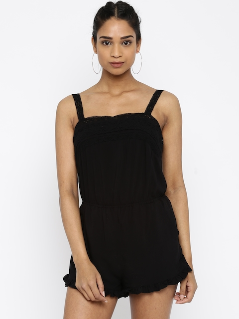 FOREVER 21 Black Playsuit