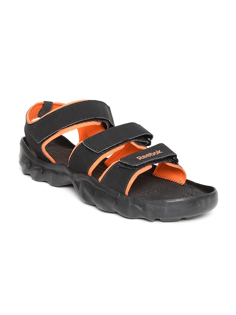 Reebok Men Black Ultra Chrome Sports Sandals