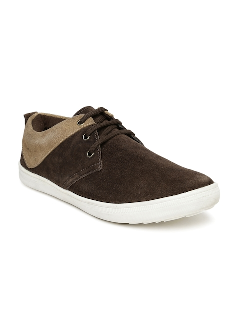 Provogue Men Brown Suede Sneakers
