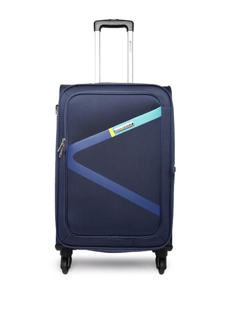 Safari Unisex Navy Medium Trolley Bag