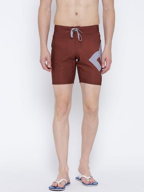 DC Maroon Printed Swim Shorts 3613371300906