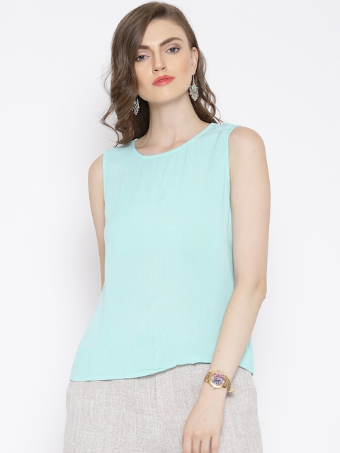 Vero Moda Powder Blue Back Slit Top