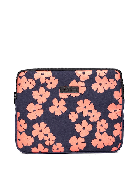 United Colors of Benetton Women Navy Floral Print Tablet Sleeve