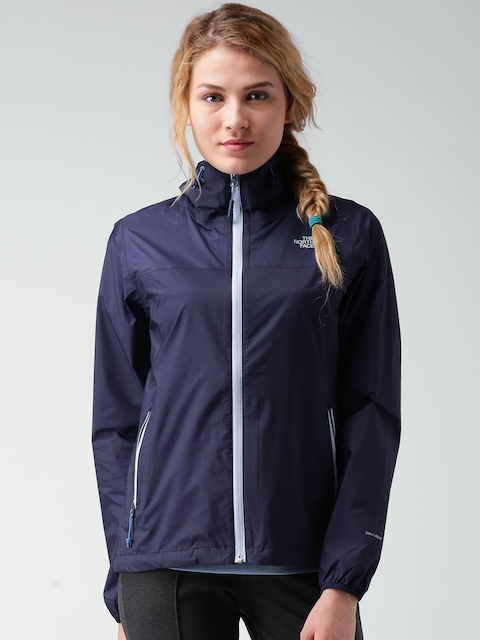 The North Face Navy Active Fit Hooded Jacket