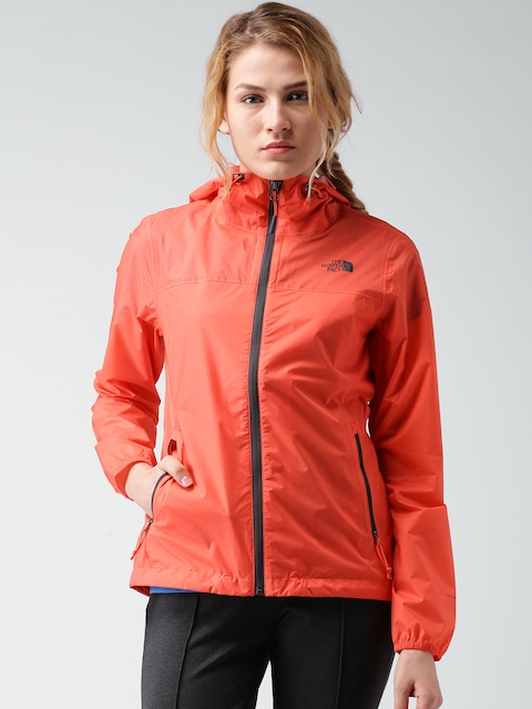The North Face Orange Active Fit Hooded Jacket