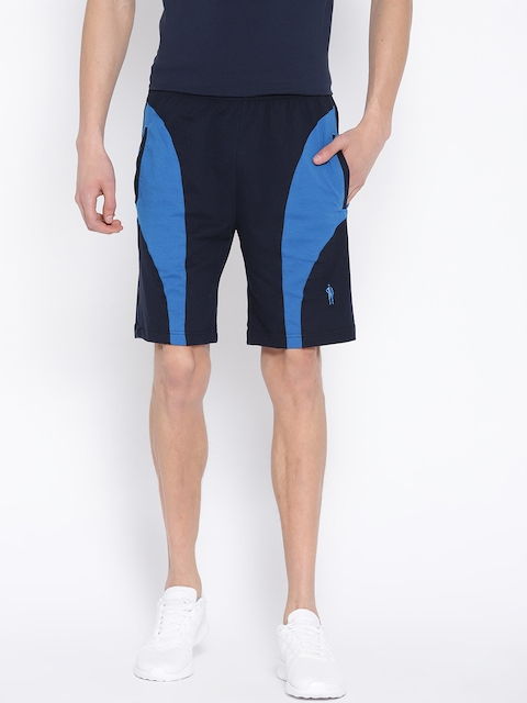 Jockey Men Navy Solid Sports Shorts