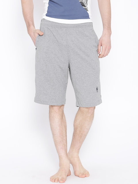 Jockey Grey Melange Lounge Shorts 9426-0103