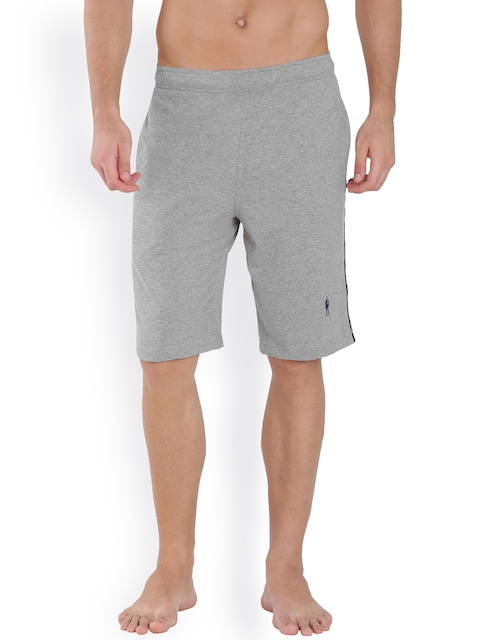 Jockey 24 x 7 Grey Melange Lounge Shorts 9426
