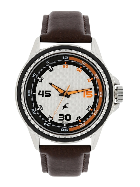 Fastrack Men White Dial Watch 3142SL02