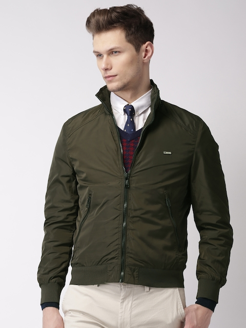 INVICTUS Olive Green Jacket with Concealed Attached Hood