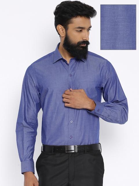 John Players Blue Slim Fit Formal Shirt