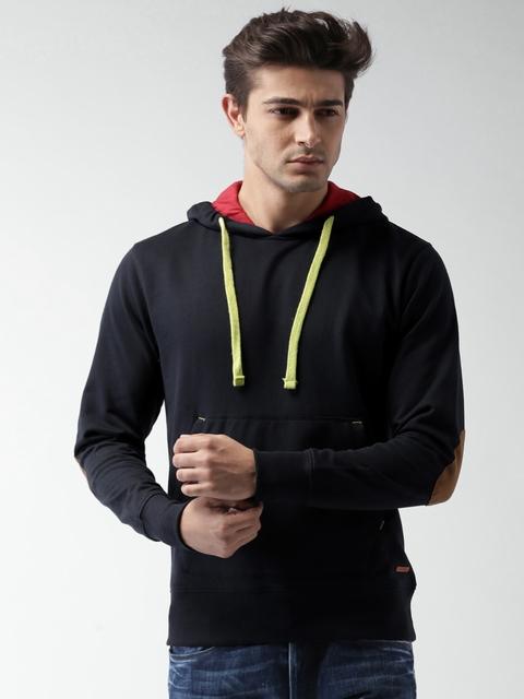 Mast & Harbour Navy Hooded Sweatshirt