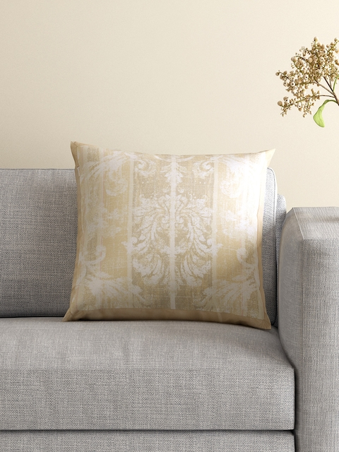 MASPAR Beige Single Printed 18 x 18 Square Cushion Cover