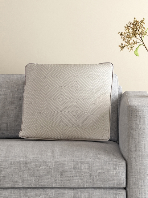 MASPAR Grey Single Patterned 18 x 18 Square Cushion Cover