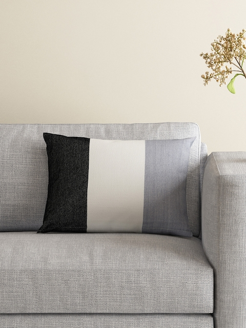 MASPAR Off-White Single Striped 12 x 18 Reactangular Cushion Covers
