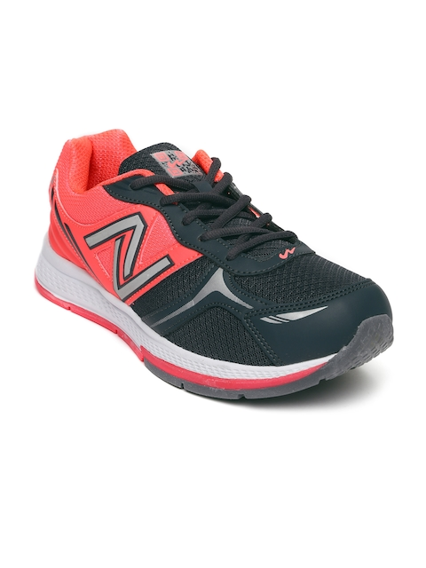 Campus Men Grey & Coral Pink Aviator Running Shoes