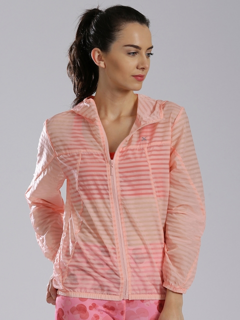 HRX by Hrithik Roshan Coral Pink Active Windcheater Jacket