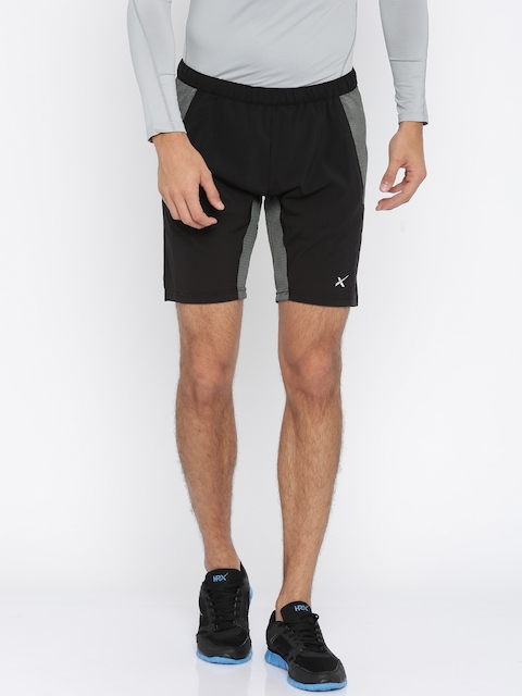 HRX by Hrithik Roshan Men Black Solid Sports Active Shorts  available at myntra for Rs.849