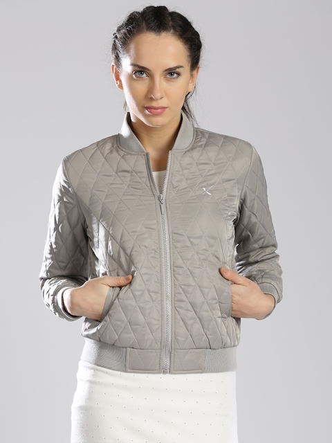 HRX by Hrithik Roshan Grey Padded Jacket