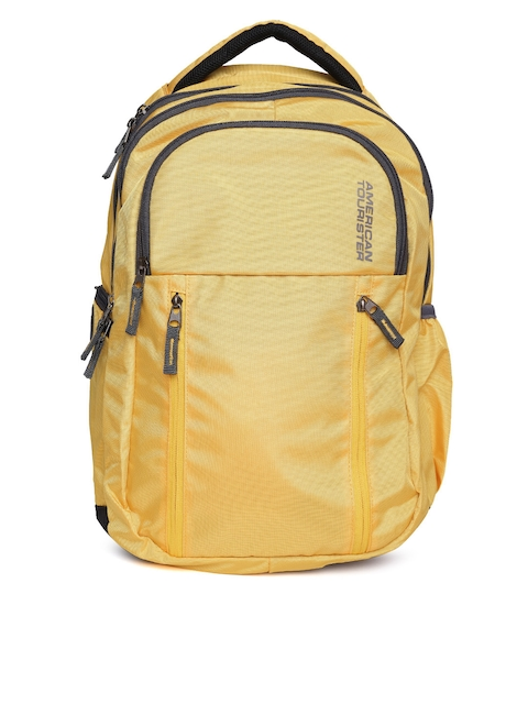 AMERICAN TOURISTER Unisex Yellow Encarta Backpack
