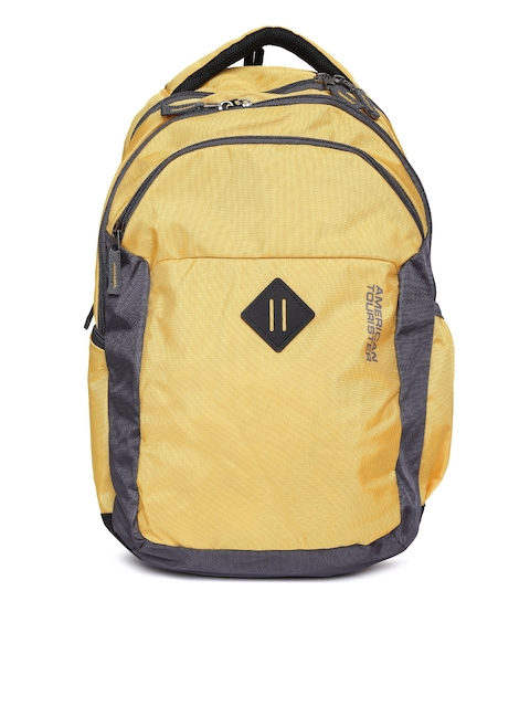 AMERICAN TOURISTER Unisex Yellow Comet Backpack