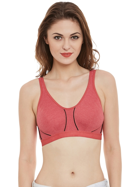 Clovia Pink Sports Bra BR0536P14  available at myntra for Rs.299