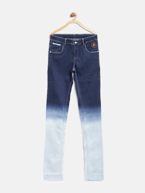 Gini & Jony Girls Blue Ombre Stretchable Jeans