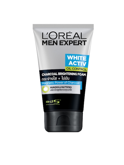 LOreal Paris Men Expert White Activ Anti-Spots & Oil Control Charcoal Foam